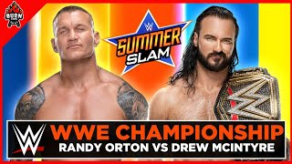 WWE RANDY ORTON VS DREW MCINTYRE - SUMMERSLAM 2020