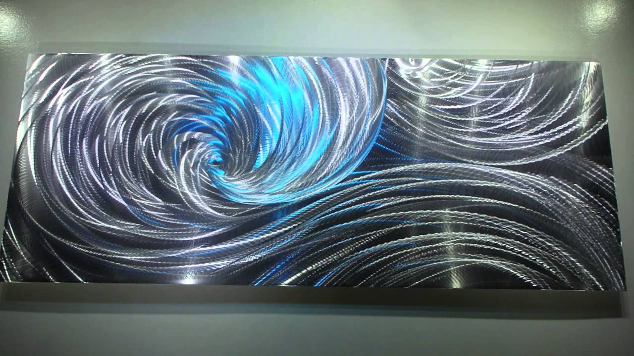 Modern Metal art 3D aluminum sculpture wall decor LED RGB