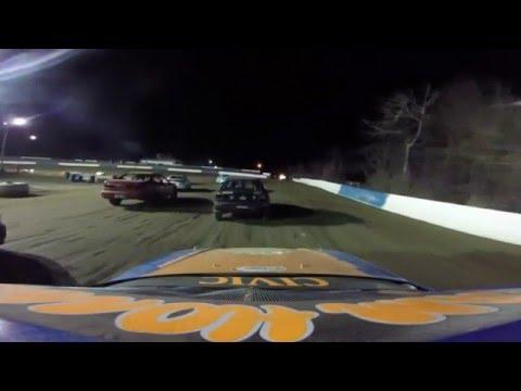 Chris Bonoffski Skyline Raceway Park 4 cyl Feature Win 4 23 16
