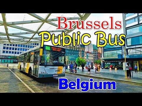 Brussels Public Bus Ride - De Lijn - Belgium
