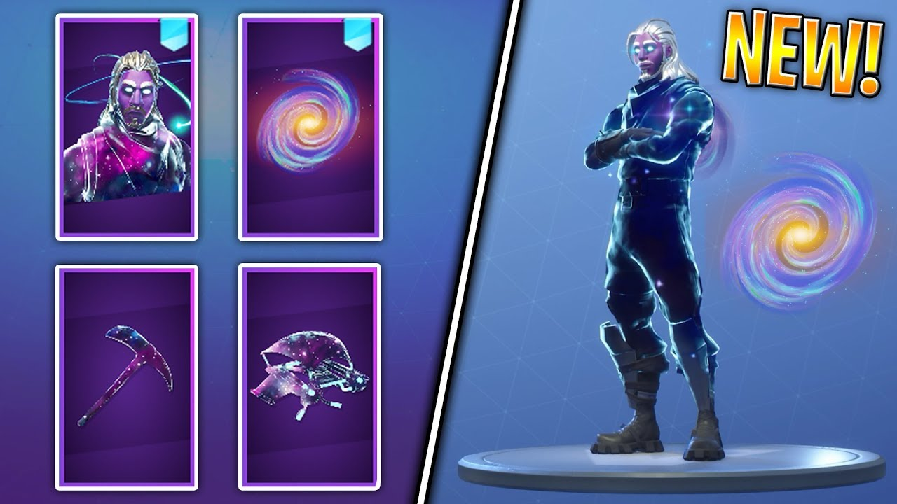 Fortnite: ENTIRE GALAXY SKIN SET ITEMS In-Game! (Backbling, Pickaxe, Glider, Outfit)