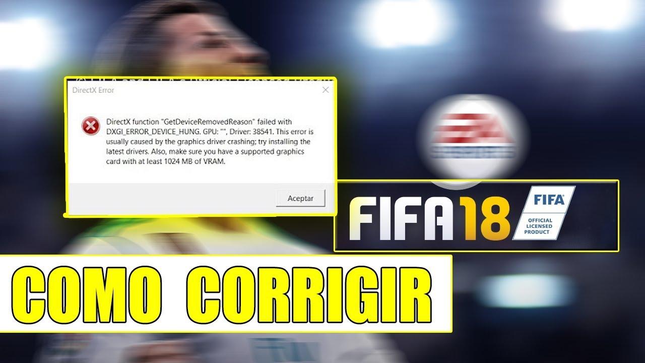 CORRIGIR ERRO:DIRECTX FUNCTION NO FIFA 18 PC - GLITCH QUE FUNCIONA