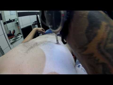 Double nipple piercing - Dirty Roses Tattoo Studio - Thessaloniki - Greece (1080p)