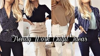 YOUNG TRENDY WORKWEAR OUTFIT IDEAS FOR WOMEN 2020 LOOKBOOK!