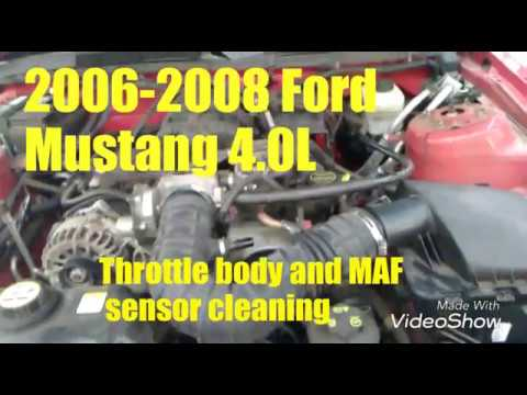 2006 To 2008 Ford Mustang Throttle Body Maf Sensor Cleaning
