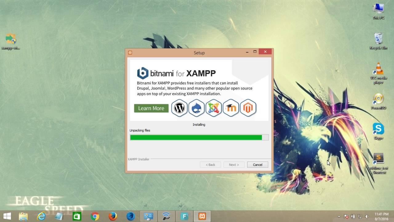 How install xampp on windows 8 & 10 64 bit