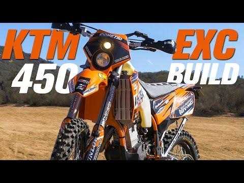 KTM 450 EXC Dual Sport Bike Build