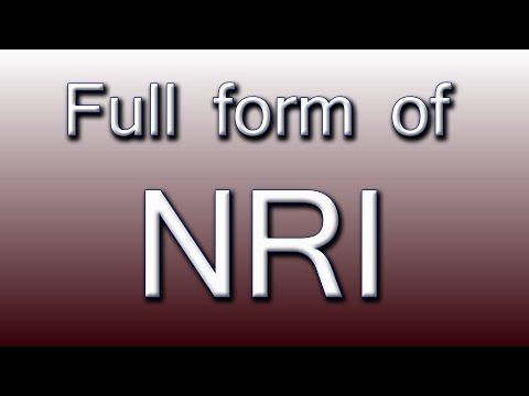 What is the Full Form of NRI - YouTube