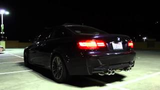 bmw e92 m3 equipped with armytrix valvetronic exhaust start revs with valves closed and opened
