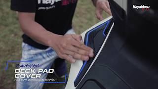 Aksesoris Variasi Karet Motor Hayaidesu PCX Deck Pad Cover