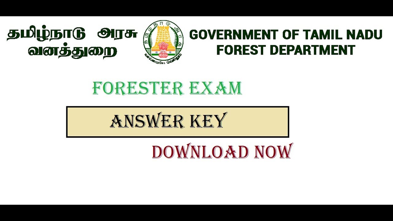 TN FORESTER EXAM | ANSWER KEY DOWNLOAD NOW | 2018 | VB ...