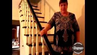 Деревянная лестница на второй этаж(Деревянная лестница на второй этаж. Заходите на сайт http://lestnici-darin.ru Изготовление деревянных лестниц на..., 2015-05-03T14:45:04.000Z)