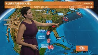 Tracking Hurricane Michael: Outlook for October 8, 2018
