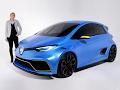 A bord de la Renault Zoé e-Sport Concept (2017)