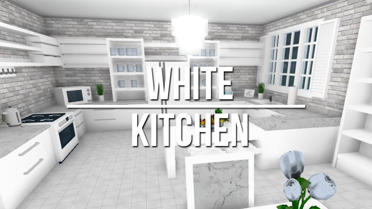 Roblox welcome to bloxburg white kitchen youtube for Kitchen designs bloxburg