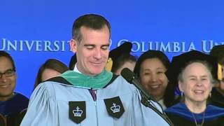Mayor Eric Garcetti at Columbia University