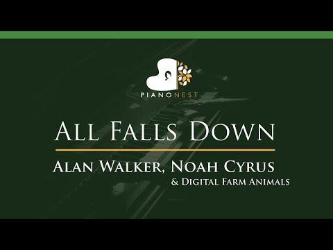 alan-walker,-noah-cyrus---all-falls-down---lower-key-(piano-karaoke-/-sing-along)
