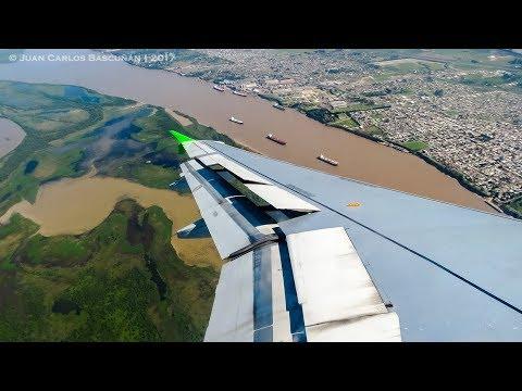 Vuelo inaugural de SKY Santiago de Chile - Rosario (SKU543 SCL-ROS A319 CC-AIY)