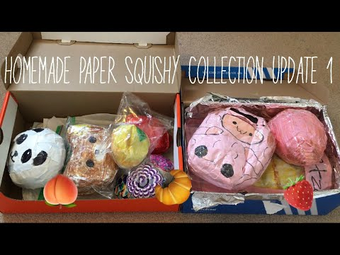 Homemade Paper/duct tape Squishy Collection| Ketchup DIY