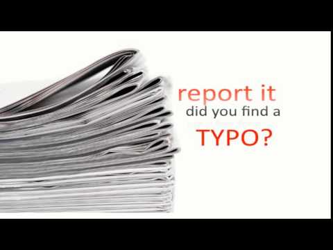 report book typos Reader's voice: troublesome typos  (read the report:  we might not review one that has a lot of typos, but usually the book could also do with some more.