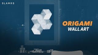 DIY Origami Wall Art | Indian Home Decor Ideas