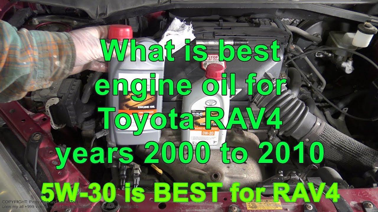 1999 toyota rav4 oil weight
