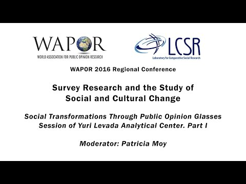 WAPOR 2016: Social Transformations Through Public Opinion Glasses. Part I