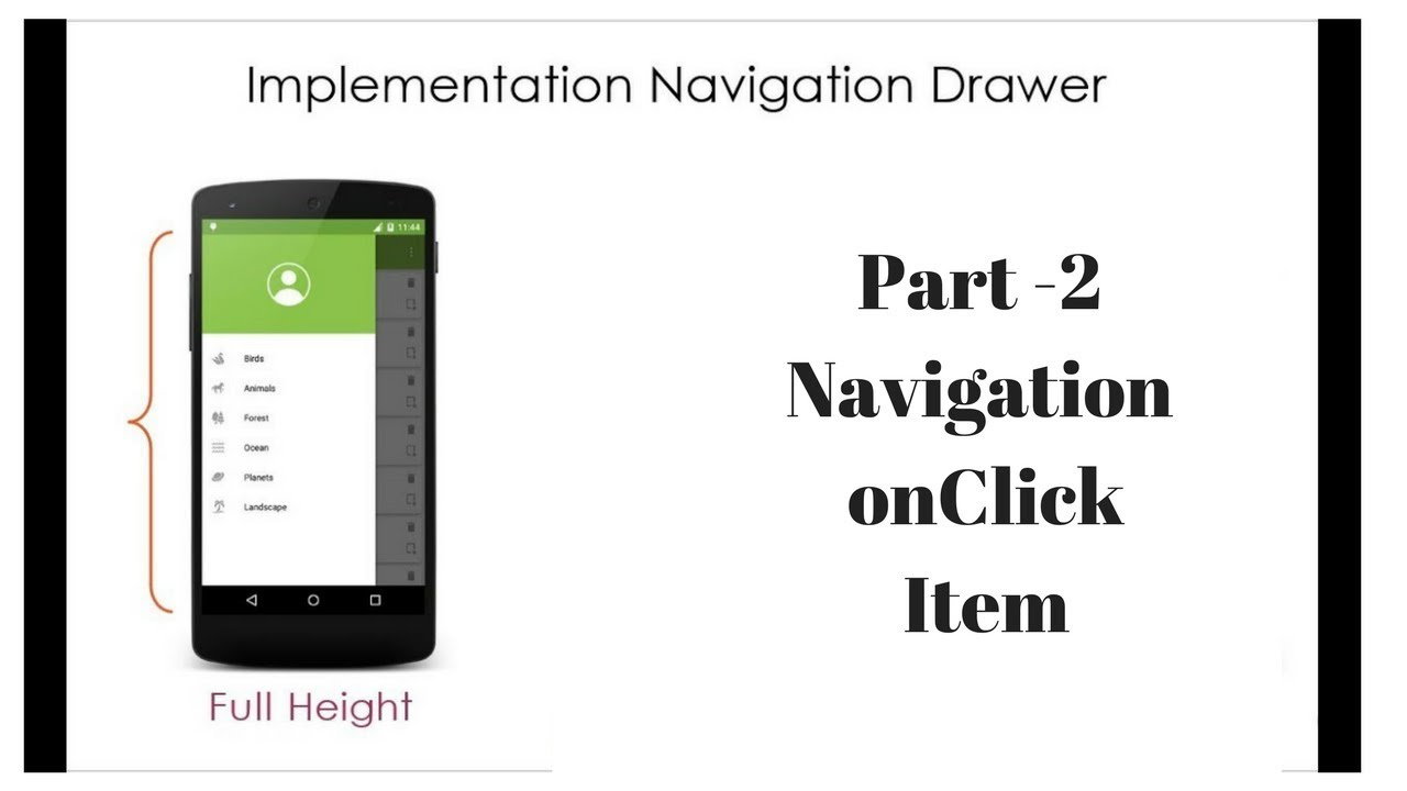Part 2 -How to implement Navigation Drawer in android || full tutorial with  note and ppt