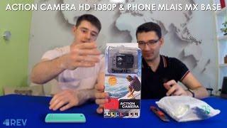 Розпакування Action Camera HD 1080P і телефону Mlais MX base