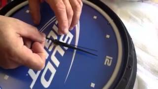 How to repair a detached second hand on a neon clock from Neonetics