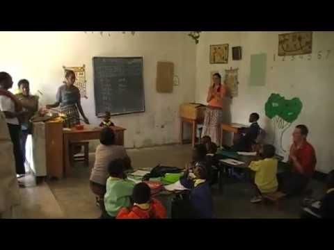 Volunteers at school in Dar es salaam