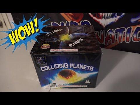 30 SHOT COLLIDING PLANETS  - PLANET X FIREWORKS