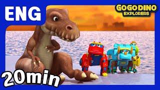 🌟 [Season 3] GoGo Dino Explorers ENG Three Episodes Compilation 7 🌟 / Marathon / GOGODINO