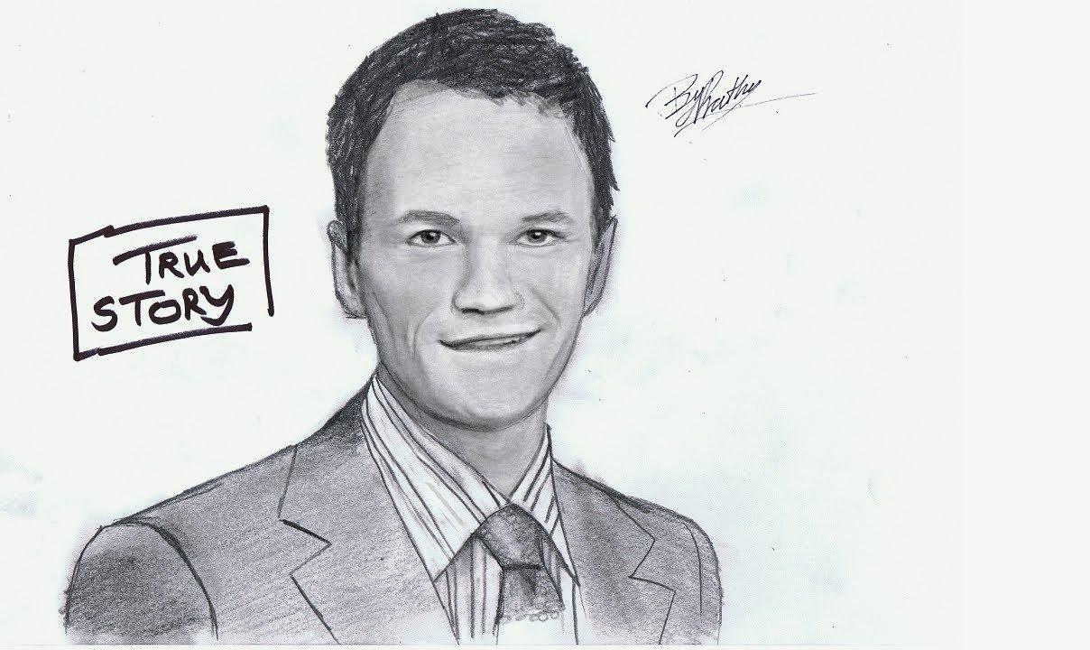 Neil Patrick Harris Barney Stinson Pencil Sketch Prathu