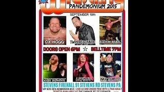 "ACW ""Pandemonium""(9/19/2015) ACW Title Match- Lufisto(c) vs Twisted Tate vs Jamie Senegal"