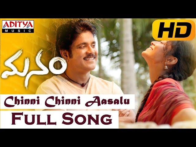 Chinni Chinni Aasalu Full Video Song || Manam Video Songs || Nagarjuna, Shreya