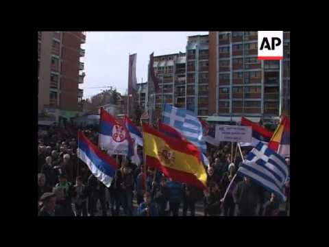 Serbs protest against formation of ethnic Albanian security force