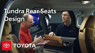 Tundra Design: Crewmax Rear Seats | 2014 Tundra | Toyota