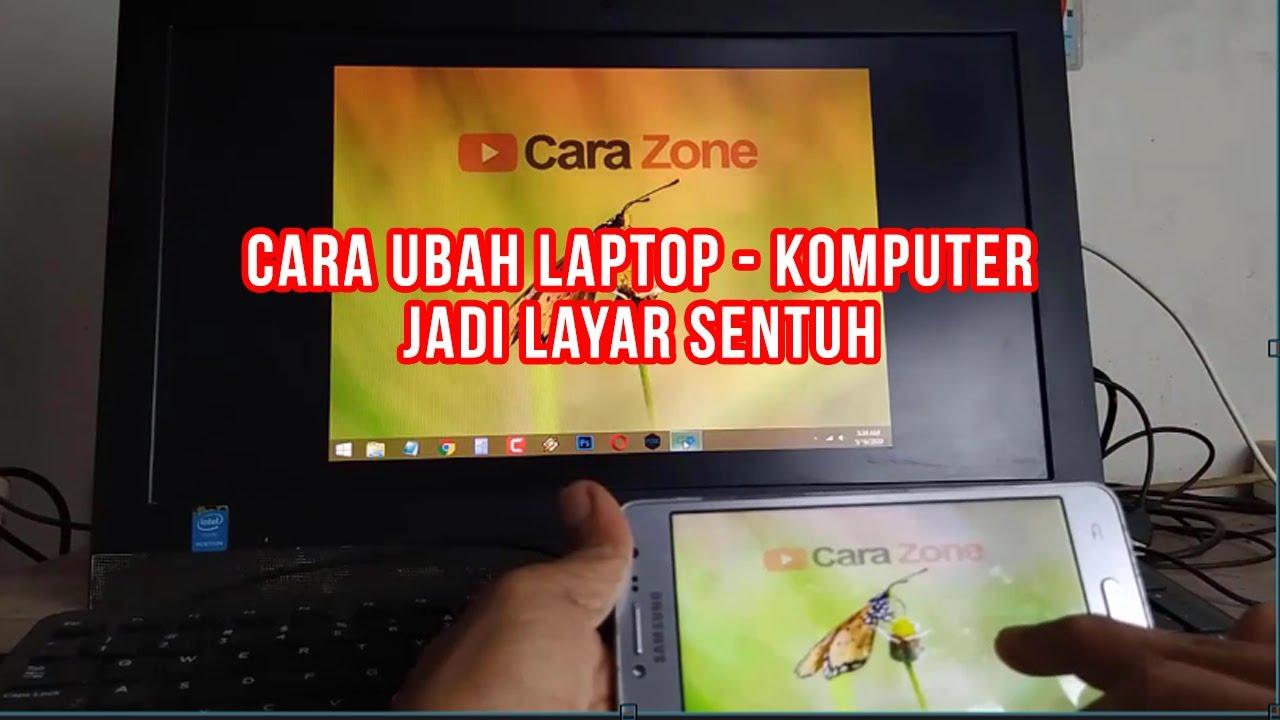 Cara Mengubah Laptop Komputer Jadi Touch Screen Layar Sentuh Tanpa Biaya Tambahan Youtube