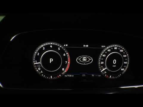 The Digital Dash Display in the New VW Tiguan