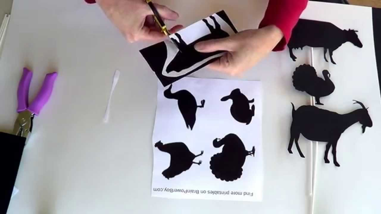 graphic regarding Printable Shadow Puppets named Generate this sort of Farm Animal Shadow Puppets with Cost-free Printable Pets