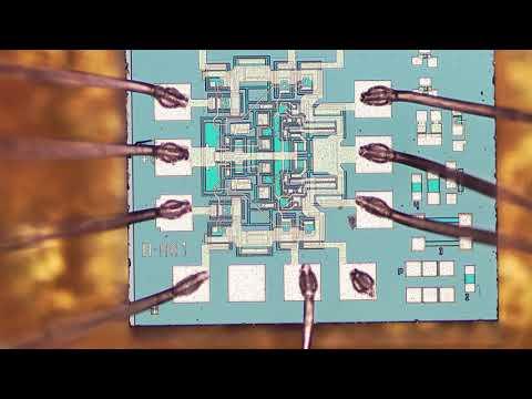 микросхемы под микроскопом, 1533ла1 и 1533тм2