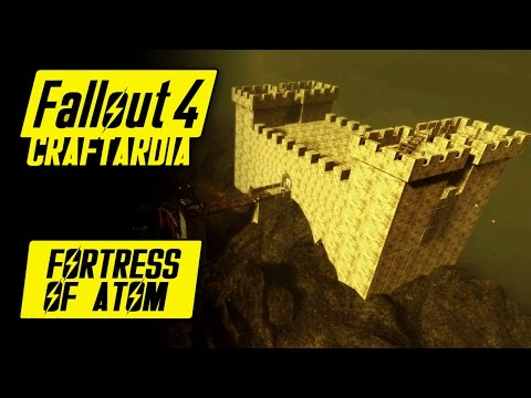 FORTRESS OF ATOM - Fallout 4 Custom Settlement Building - Crater of Atom/Glowing Sea