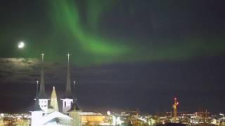 Aurora Borealis in Reykjavik 2017