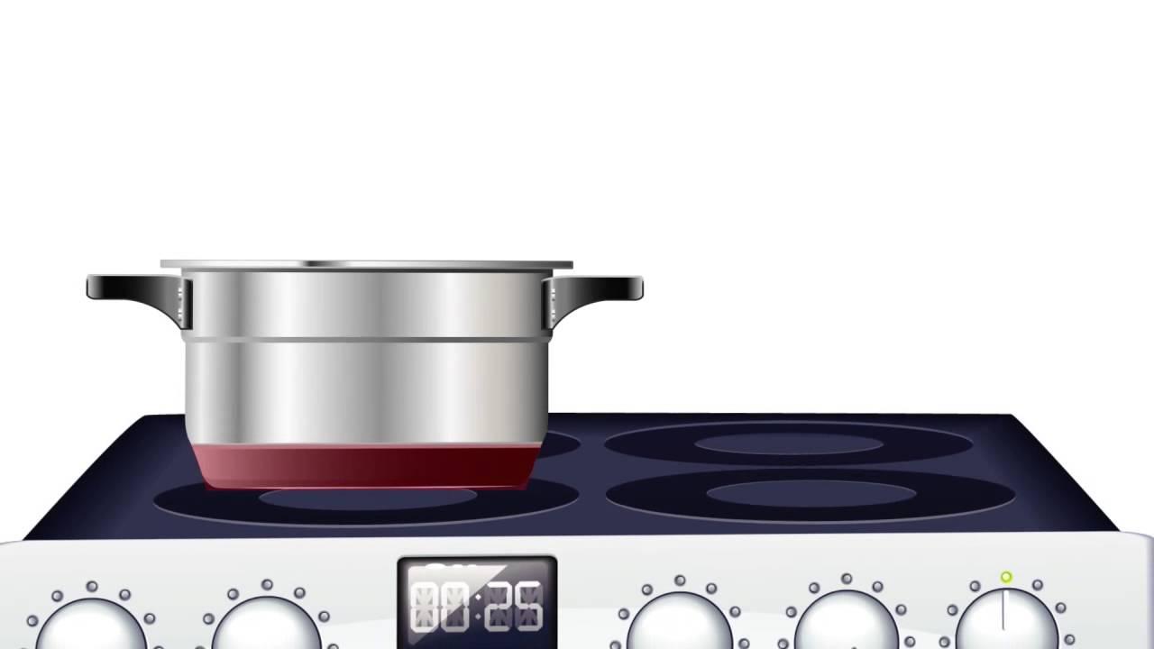 C mo funcionan las cocinas de inducci n youtube for Cocina encimera electrica