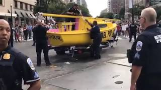 DC Shorts Climate Strike Protesters Block Traffic With A Boat