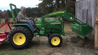 John Deere 3005: Filling in a Hole