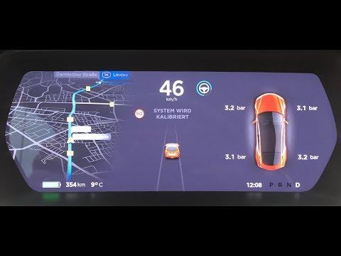 Kalibrierung des Autopiloten und wie der Tesla einparkt