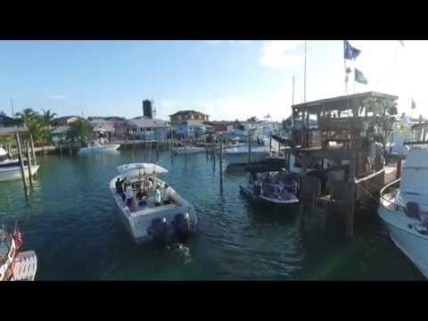 Returning to Rosie's Marina at Grand Cay Bahamas