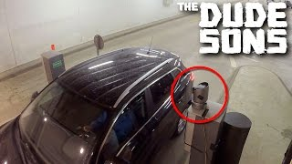 Remote Controlled Parking Gate Prank! - The Dudesons